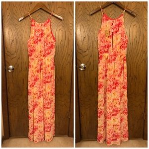 NWT Umgee Raspberry Splotch Patterned Maxi